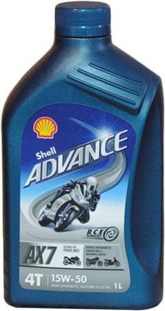 Shell olje Advance 4T AX7 15W50, 1 l