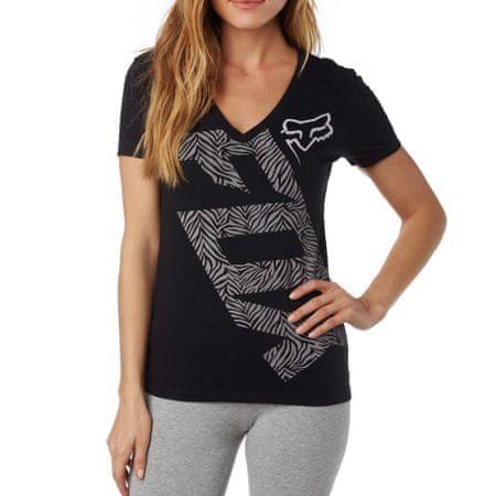 FOX ženska majica Angled V Neck Ss Tee S crna