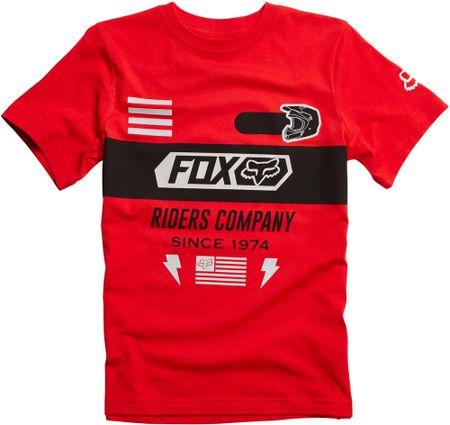 FOX fantovska majica Osage Ss Tee 140 rdeča