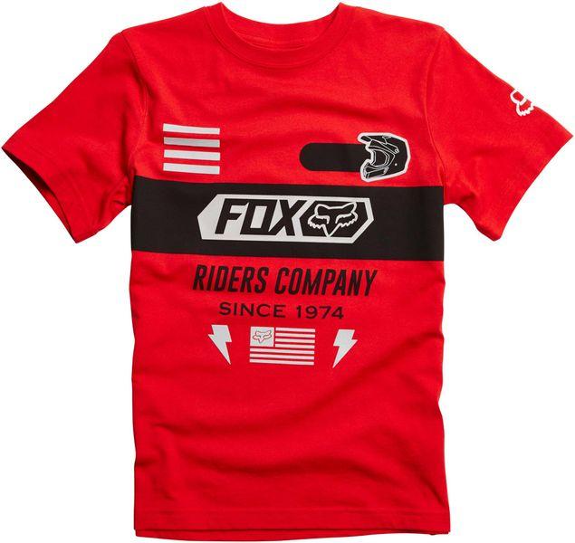 FOX chlapecké tričko Osage Ss Tee 140 červená