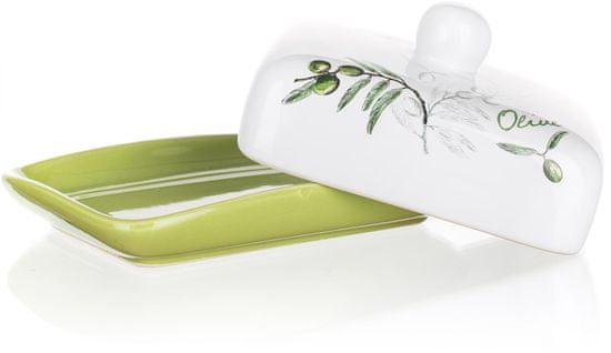 Banquet Máslenka keramická OLIVES