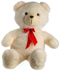 Teddies Medveď plyš 100 cm béžový s mašľou
