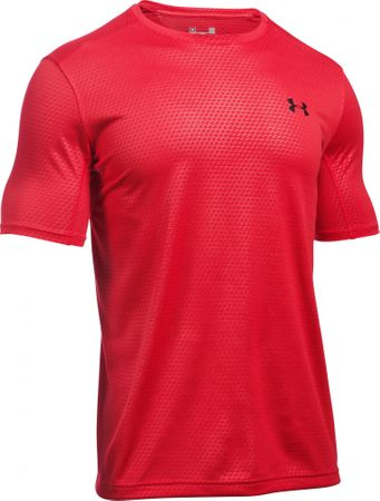 Under Armour moška majica Raid Microthread SS Tee, rdeča, S