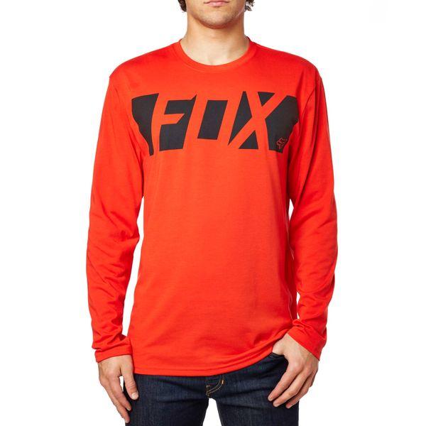 FOX pánské tričko Cease Ls Tech Tee S červená