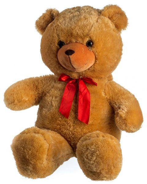 Teddies Medvěd plyš 100 cm světle hnědý s mašlí