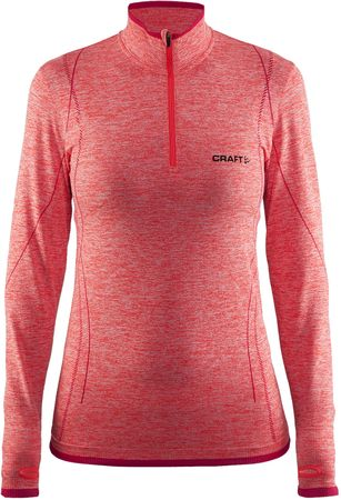 Craft majica Active Comfort Zip LS, oranžna, M
