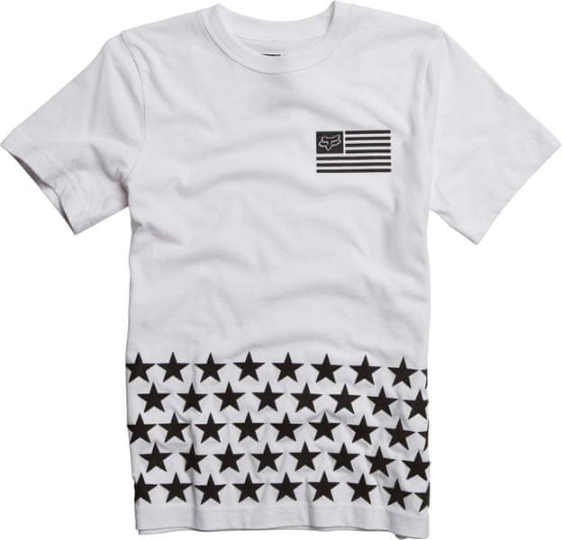 FOX chlapecké tričko Lenexa SS Tee 140 bílá