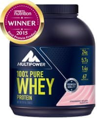 Multipower 100% Pure Whey Protein - 2000 g jahoda