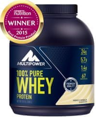 Multipower 100% Pure Whey Protein - 2000 g vanilka