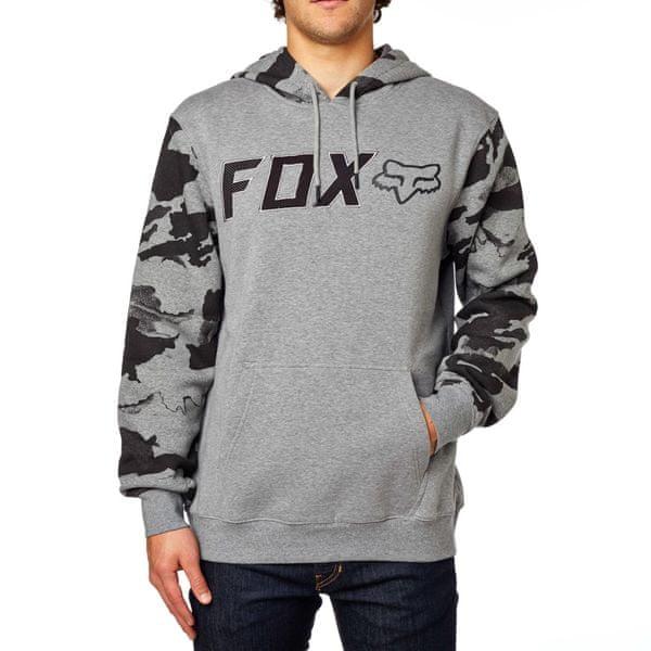 FOX pánská mikina Diskors Pullover Fleece L šedá