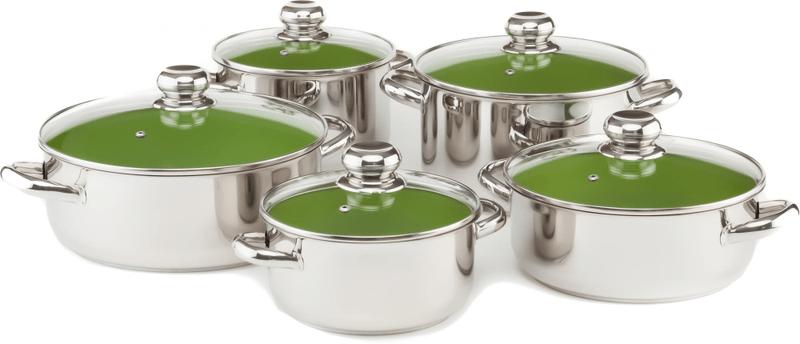 Kolimax Cerammax Pro Standard Sada nádobí 10 ks, zelená