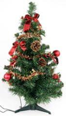 Seizis Stromek zdobený červený 60 cm s 10 LED
