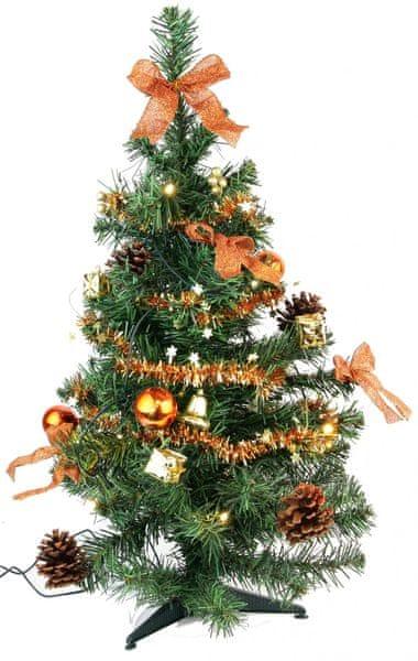 Seizis Stromek zdobený měděný 60 cm s 10 LED