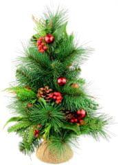 Seizis Stromček borovicový s bobuľami a gulľôčkami 45 cm