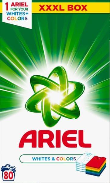 Ariel Prací prášek White & Color 6 kg, 80 praní