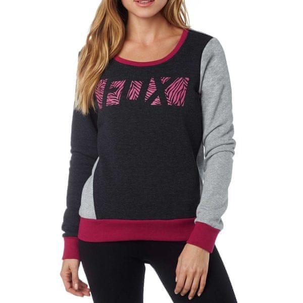 FOX dámská mikina Libra Po Crew XS černá