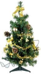 Seizis Drzewko ozdobne złote 10 LED 60 cm