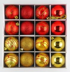 Seizis Set božičnih krogle rdeče-zlate 16 kosov