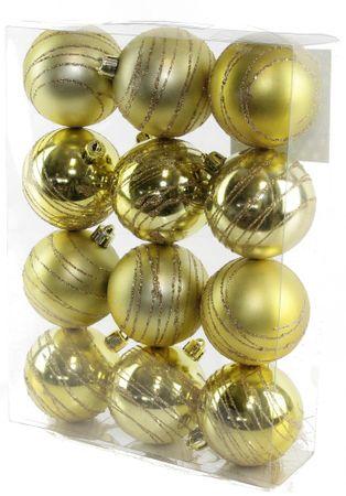 Seizis Koule s dekorem zlaté 12 ks