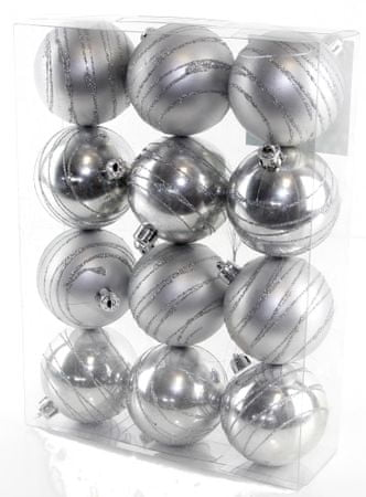 Seizis Koule s dekorem stříbrné 12 ks