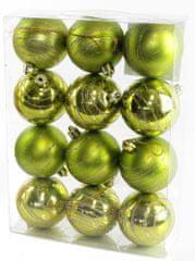Seizis Gömb karácsonyfadísz, 12 db, Zöld