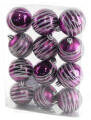 Seizis Gule s dekorom fialové 12 ks