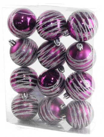 Seizis Koule s dekorem fialové 12 ks