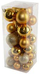 Seizis Set vánočních koulí zlaté 40 ks