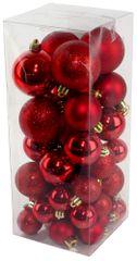 Seizis Set božičnih krogel rdeče 40 kosov
