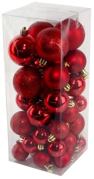 Seizis Set vánočních koulí červené 40 ks