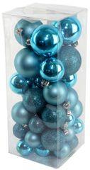 Seizis Set vánočních koulí modré 40 ks