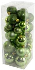 Seizis Gömb karácsonyfadísz, 40 db, Zöld