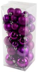 Seizis Set vianočných gulí fialové 40 ks