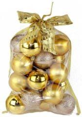 Seizis Set koulí s dekorem v sáčku zlaté 20 ks