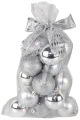 Seizis Set krogel z dodatki v vrečki srebrne 20 kosov