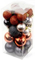 Seizis Set božičnih krogel rjav 42 kosov