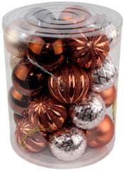 Seizis Set božičnih krogel rjave 26 kosov