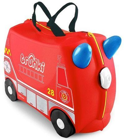 Trunki Kufrík + odrážadlo hasičské auto Frankie