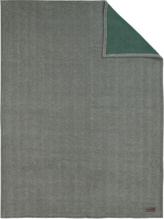 Ibena Jacquard Aberdeen Takaró, 150x200 cm, Zöld
