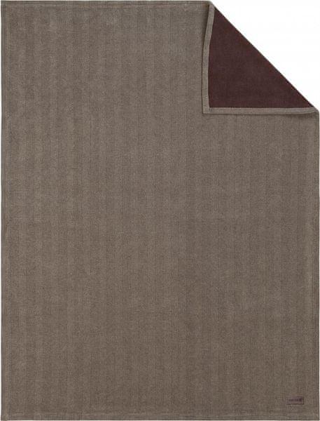 Ibena Jacquard deka Aberdeen 150x200 cm hnědá