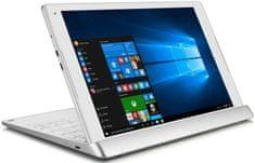 Alcatel PLUS 10 LTE + DOCK klávesnice 8085, Stříbrná