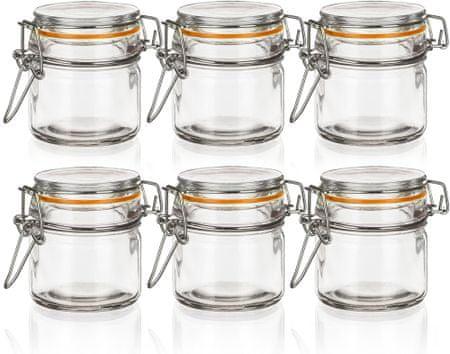 Banquet Kozarec steklen hermetičen LINA 100 ml 6 kos