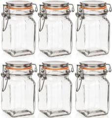 Banquet LINA Hermetikus üveg,250ml,6dbII.osztály