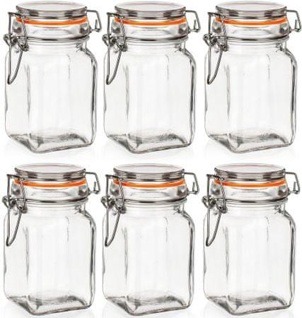 Banquet Dóza sklenená hermetická LINA 250 ml 6ks