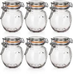 Banquet Kozarec steklen hermetičen LINA 120 ml 6 kos