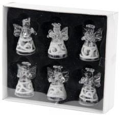 Seizis Set belih angelov iz stekla 6 kosov