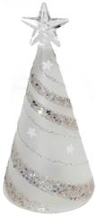 Seizis Svítící skleněný stromek s dekorem spirály
