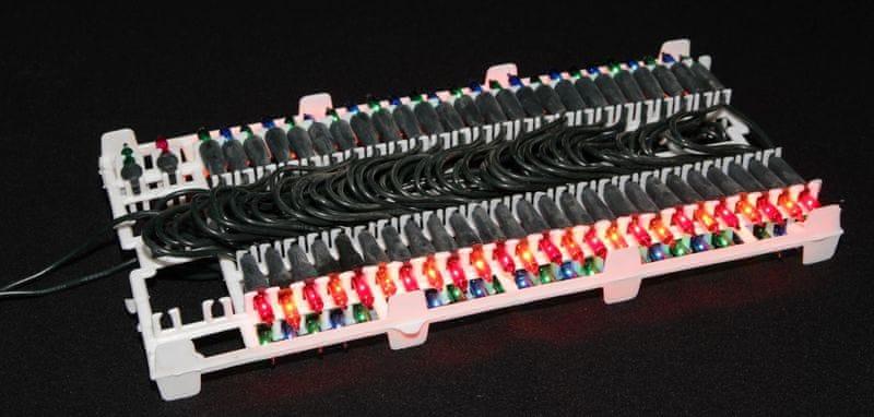 Seizis Elektrické osvětlení 100 žárovek barevné