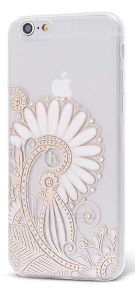 EPICO pružný plastový kryt, iPhone 6/6S, HOCO FLOWER, čirá