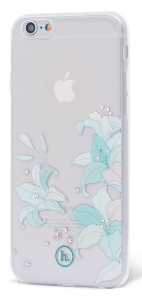 EPICO pružný plastový kryt, iPhone 6/6S HOCO BAUHINIA, čirá, vzor modrá